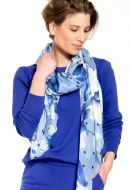 Le Scarf Blue Flower