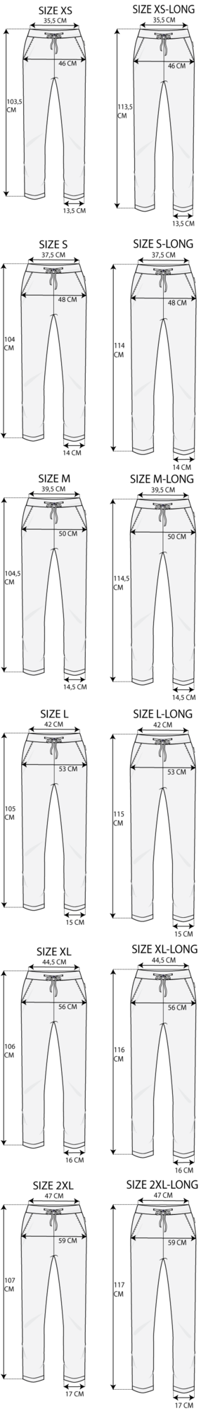 Maattabel Regular Pant