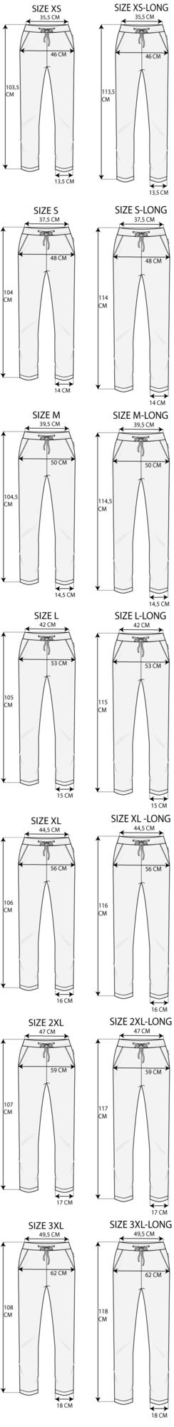 Maattabel Regular Pant