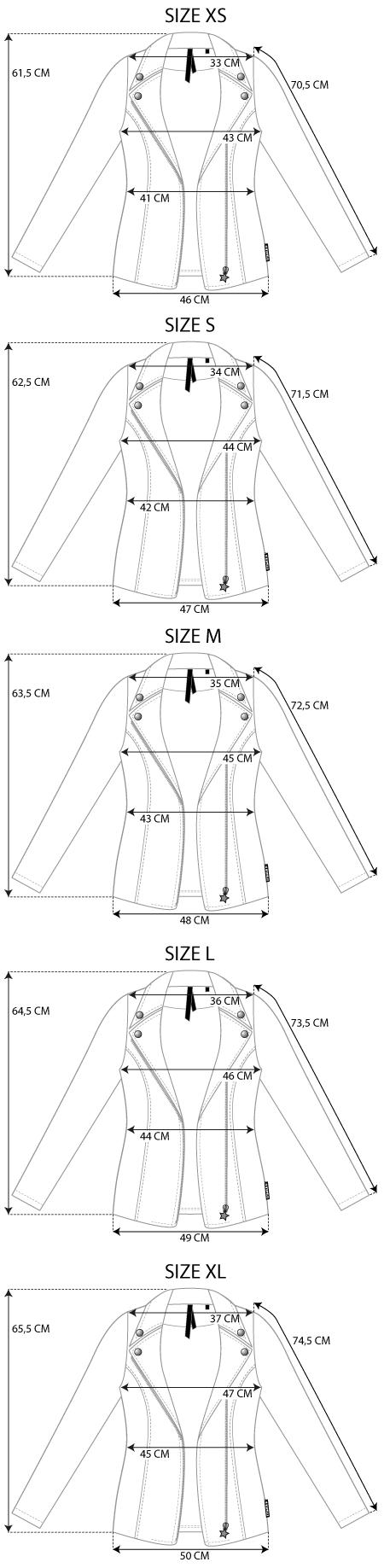 Maattabel leather jacket
