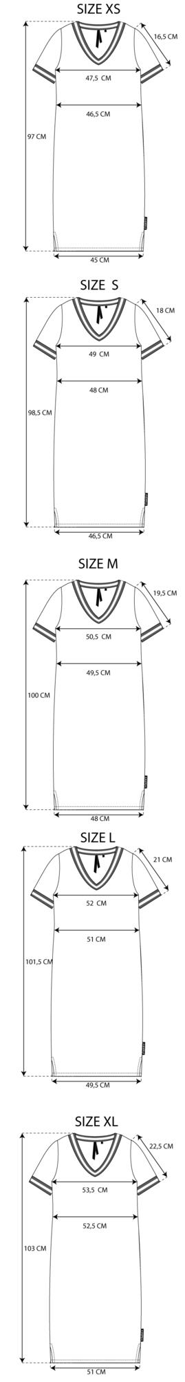 Maattabel Basic Dress V-Neck
