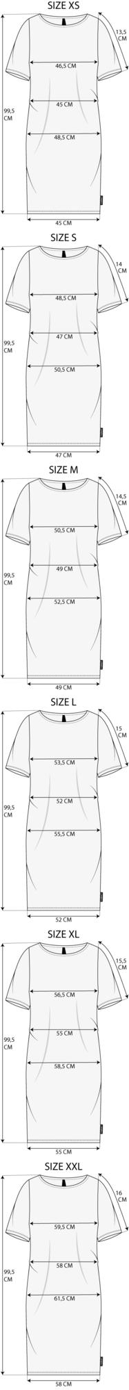 Maattabel Robe