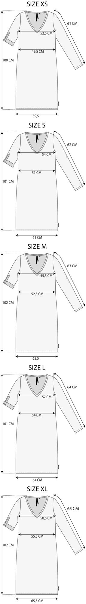 Maattabel la beach dress