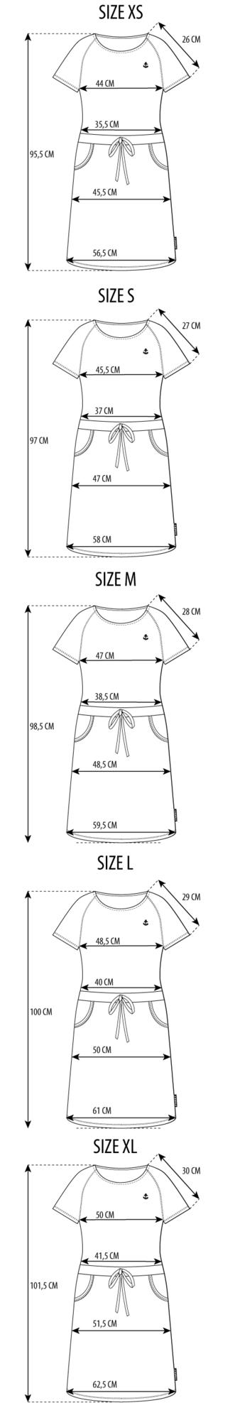 Maattabel La Robe Bateau Striped