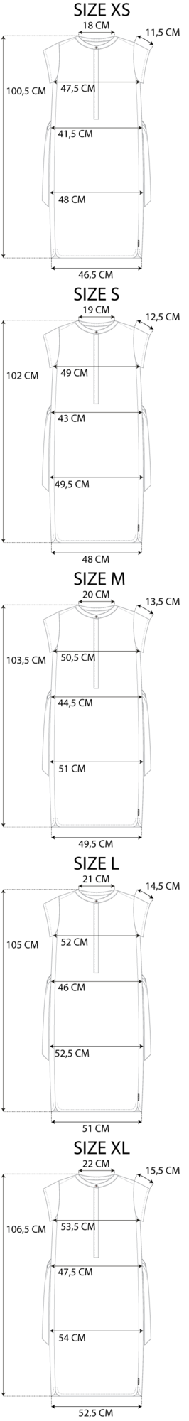 Maattabel le essential robe