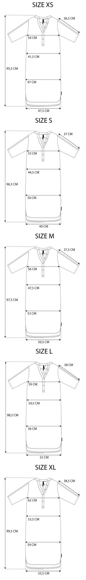 Maattabel Travel Tunic Robe