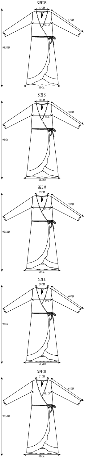 Maattabel robe wrapped