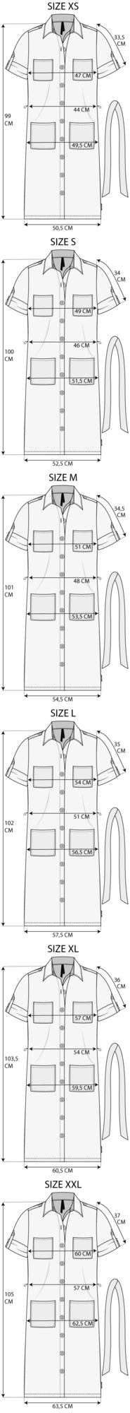 Maattabel Dress
