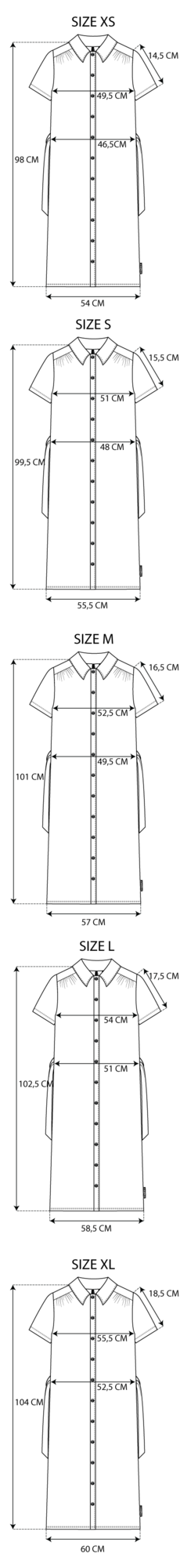 Maattabel La Shirt Dress
