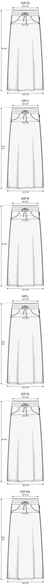 Maattabel Skirt