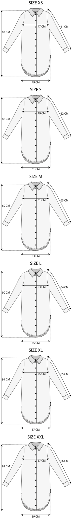 Maattabel Tunic