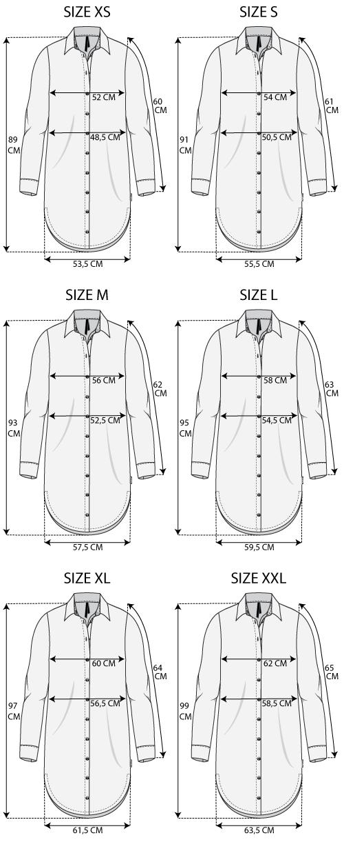 Maattabel Shirt Dress